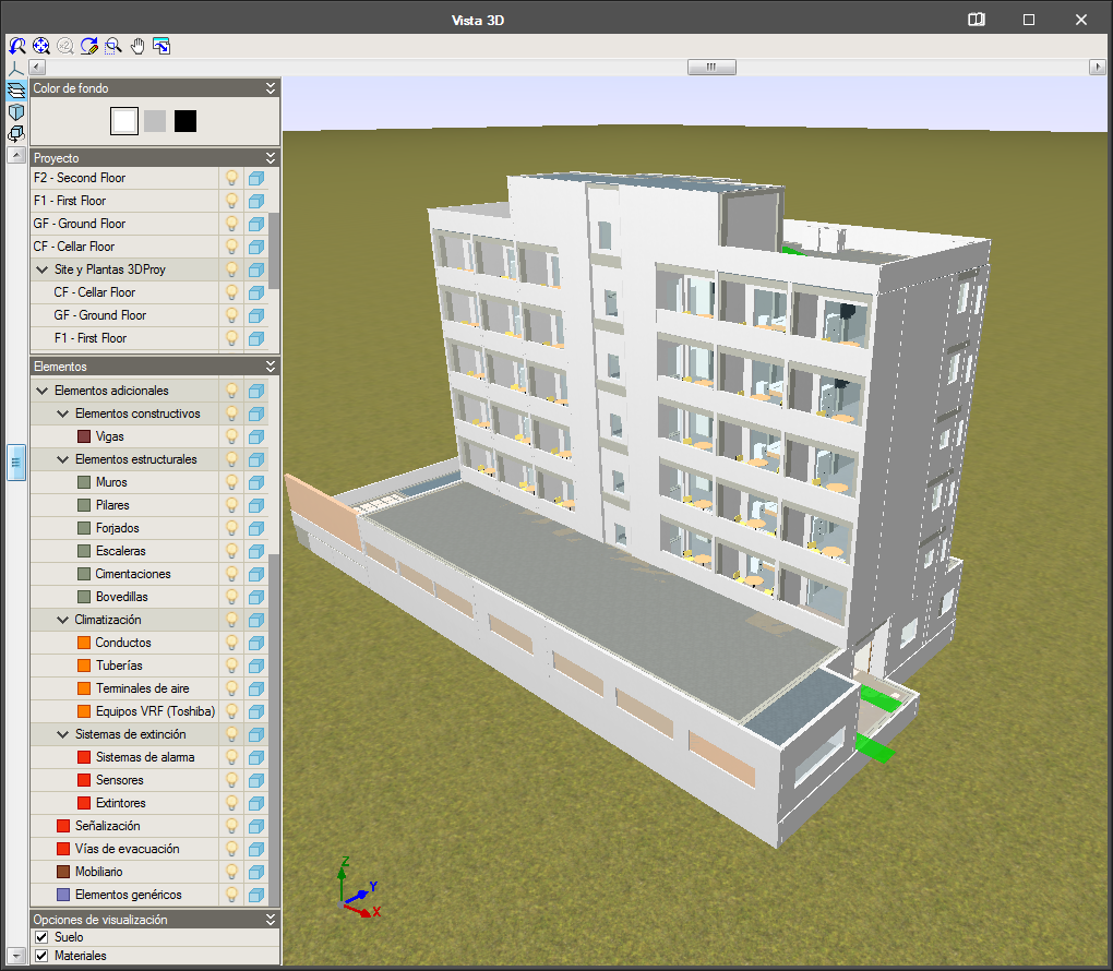IFC Builder. Model import from IFC files